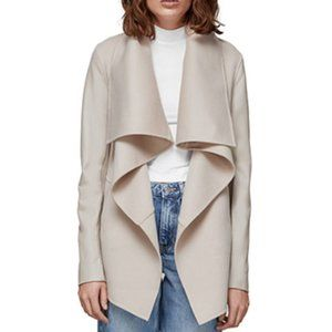 Mackage Women's  Wrap Wool and Leather Coat